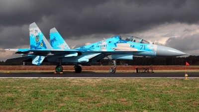 Photo ID 215399 by Carl Brent. Ukraine Air Force Sukhoi Su 27UB1M, B 1831M1