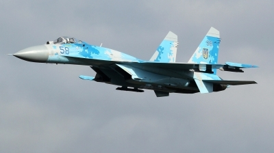 Photo ID 215425 by kristof stuer. Ukraine Air Force Sukhoi Su 27P1M,