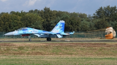 Photo ID 215448 by Hans-Werner Klein. Ukraine Air Force Sukhoi Su 27UB1M, B 1831M1