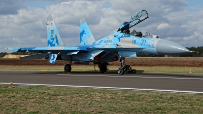 Photo ID 215488 by Rainer Mueller. Ukraine Air Force Sukhoi Su 27UB1M, B 1831M1