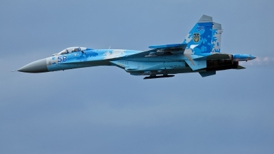 Photo ID 215489 by Rainer Mueller. Ukraine Air Force Sukhoi Su 27P1M,