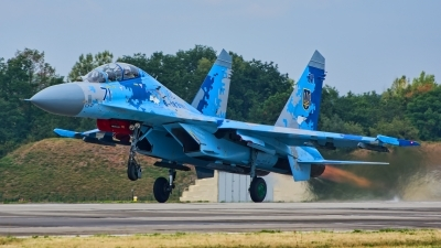Photo ID 215715 by Radim Spalek. Ukraine Air Force Sukhoi Su 27UB1M, B 1831M1