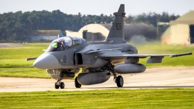 Photo ID 215528 by Mike Macdonald. Sweden Air Force Saab JAS 39D Gripen, 39826