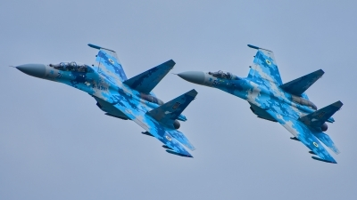 Photo ID 215818 by Radim Spalek. Ukraine Air Force Sukhoi Su 27UB1M, B 1831M1