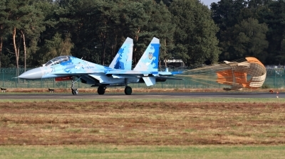 Photo ID 215530 by Milos Ruza. Ukraine Air Force Sukhoi Su 27UB1M, B 1831M1