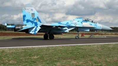 Photo ID 215671 by Sybille Petersen. Ukraine Air Force Sukhoi Su 27UB1M, B 1831M1