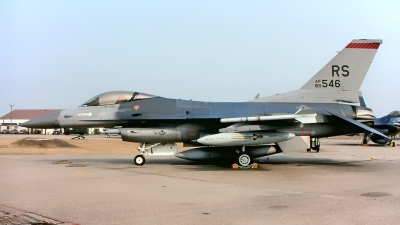 Photo ID 215745 by Gerrit Kok Collection. USA Air Force General Dynamics F 16C Fighting Falcon, 85 1546