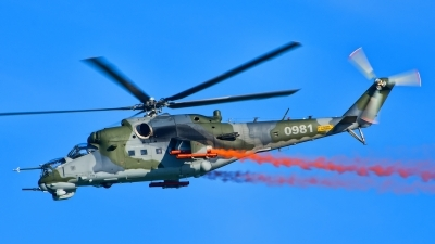Photo ID 216997 by Radim Spalek. Czech Republic Air Force Mil Mi 24V, 0981