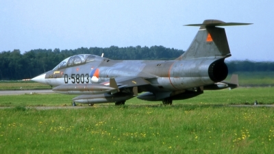 Photo ID 217197 by Marc van Zon. Netherlands Air Force Lockheed TF 104G Starfighter, D 5803