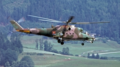 Photo ID 217214 by Marc van Zon. Slovakia Air Force Mil Mi 24V, 0813