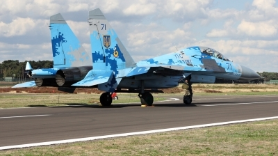 Photo ID 217861 by Milos Ruza. Ukraine Air Force Sukhoi Su 27UB1M, B 1831M1