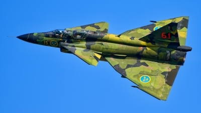 Photo ID 218285 by Radim Spalek. Private Swedish Air Force Historic Flight Saab Sk37E Viggen, SE DXO