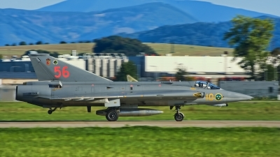Photo ID 218032 by Radim Spalek. Private Swedish Air Force Historic Flight Saab J35J Draken, SE DXR