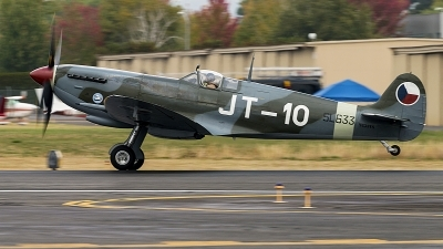 Photo ID 218545 by Aaron C. Rhodes. Private Historic Flight Foundation Supermarine 361 Spitfire LF9E, N633VS