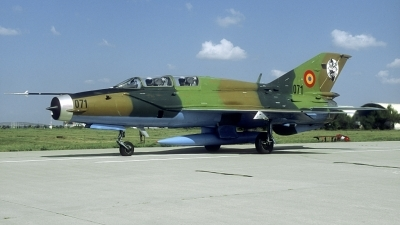 Photo ID 218776 by Marinus Dirk Tabak. Romania Air Force Mikoyan Gurevich MiG 21UM Lancer B, 071
