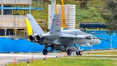 Photo ID 220202 by Martin Thoeni - Powerplanes. Switzerland Air Force McDonnell Douglas F A 18C Hornet, J 5023