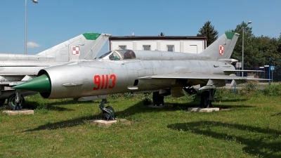 Photo ID 220235 by Carl Brent. Poland Air Force Mikoyan Gurevich MiG 21MF, 9113