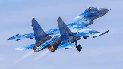 Photo ID 220654 by Matthias Becker. Ukraine Air Force Sukhoi Su 27P1M,