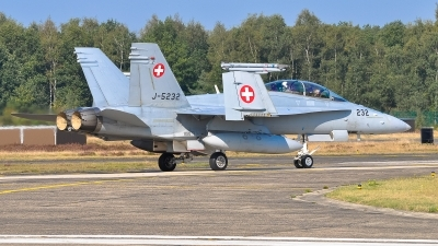 Photo ID 220426 by Hans Rödel. Switzerland Air Force McDonnell Douglas F A 18D Hornet, J 5232