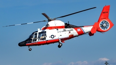 Photo ID 220667 by Alex Jossi. USA Coast Guard Aerospatiale HH 65C Dolphin SA 366G 1, 6514
