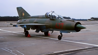 Photo ID 220705 by Gerrit Kok Collection. East Germany Air Force Mikoyan Gurevich MiG 21MF, 427