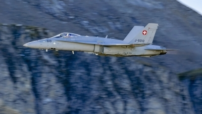 Photo ID 220775 by Martin Thoeni - Powerplanes. Switzerland Air Force McDonnell Douglas F A 18C Hornet, J 5010