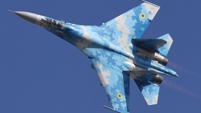 Photo ID 220817 by Paul Newbold. Ukraine Air Force Sukhoi Su 27P1M,