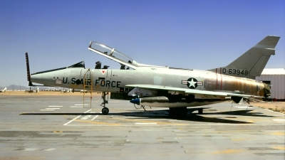 Photo ID 220881 by Gerrit Kok Collection. USA Air Force North American F 100F Super Sabre, 56 3948