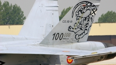 Photo ID 2845 by Tim Felce. Spain Air Force McDonnell Douglas CE 15 Hornet EF 18B, CE 15 01