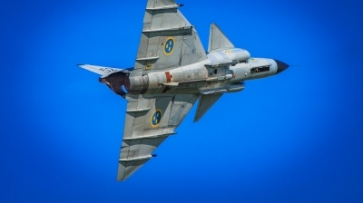Photo ID 221199 by Stephen Cooper. Private Swedish Air Force Historic Flight Saab AJS37 Viggen, SE DXN