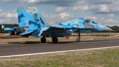 Photo ID 221284 by Jan Eenling. Ukraine Air Force Sukhoi Su 27UB1M, B 1831M1
