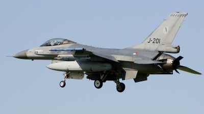 Photo ID 221566 by Arie van Groen. Netherlands Air Force General Dynamics F 16AM Fighting Falcon, J 201