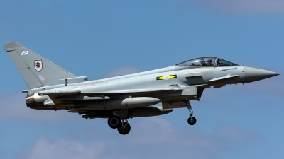 Photo ID 221690 by Thomas Ziegler - Aviation-Media. UK Air Force Eurofighter Typhoon FGR4, ZK354