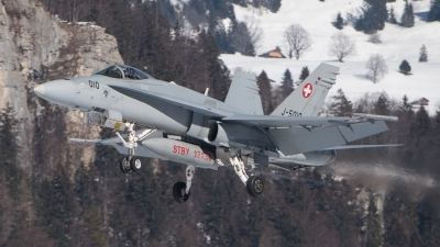 Photo ID 222424 by Luca Fahrni. Switzerland Air Force McDonnell Douglas F A 18C Hornet, J 5010
