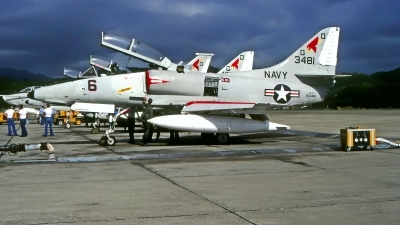 Photo ID 222451 by Gerrit Kok Collection. USA Navy McDonnell Douglas EA 4F Skyhawk, 153481