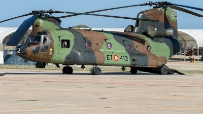 Photo ID 222459 by Adolfo Bento de Urquia. Spain Army Boeing Vertol CH 47D Chinook, HT 17 12