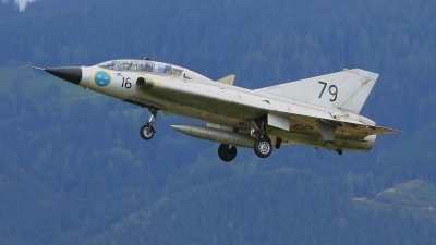 Photo ID 222465 by Werner P. Private Swedish Air Force Historic Flight Saab Sk35C Draken, SE DXP