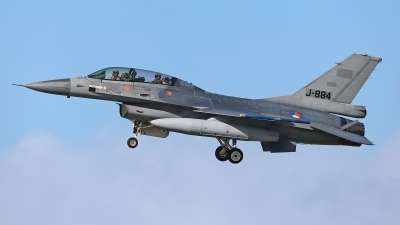 Photo ID 223119 by Dieter Linemann. Netherlands Air Force General Dynamics F 16B Fighting Falcon, J 884