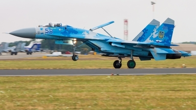 Photo ID 223303 by Lukas Könnig. Ukraine Air Force Sukhoi Su 27P1M,