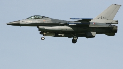 Photo ID 223308 by Arie van Groen. Netherlands Air Force General Dynamics F 16AM Fighting Falcon, J 646