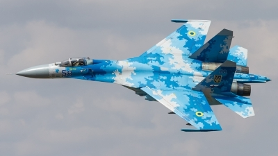 Photo ID 223403 by Lukas Könnig. Ukraine Air Force Sukhoi Su 27P1M,