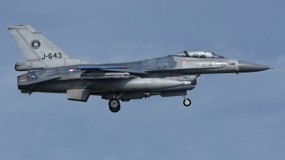 Photo ID 223725 by Rainer Mueller. Netherlands Air Force General Dynamics F 16AM Fighting Falcon, J 643
