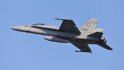 Photo ID 224406 by Frank Kloppenburg. Switzerland Air Force McDonnell Douglas F A 18C Hornet, J 5007