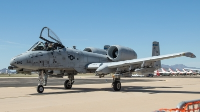 Photo ID 224439 by W.A.Kazior. USA Air Force Fairchild A 10A Thunderbolt II, 80 0240