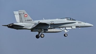 Photo ID 224631 by Rainer Mueller. Switzerland Air Force McDonnell Douglas F A 18C Hornet, J 5003