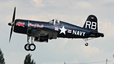 Photo ID 224996 by Milos Ruza. Private Red Bull Vought F4U 4 Corsair, OE EAS
