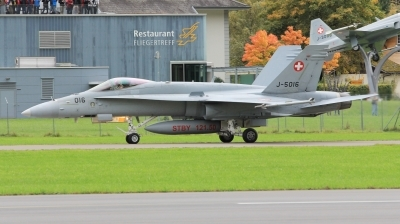 Photo ID 224999 by Milos Ruza. Switzerland Air Force McDonnell Douglas F A 18C Hornet, J 5016