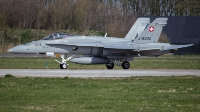 Photo ID 225040 by Rainer Mueller. Switzerland Air Force McDonnell Douglas F A 18C Hornet, J 5026