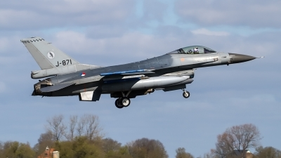 Photo ID 225106 by Alfred Koning. Netherlands Air Force General Dynamics F 16AM Fighting Falcon, J 871