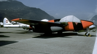 Photo ID 225159 by Joop de Groot. Switzerland Air Force De Havilland DH 100 Vampire FB 6, J 1121